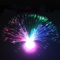Retail 36sets Colorful holiday optical fiber lamp Gypsophila small night light optical fiber flower Free shipping
