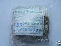 20pcs 1/4W 150OHM CARBON FILM RESISTORS