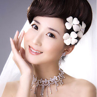 Four leaf clover white bridal hairpin hair accessory the wedding hair accessory accessories 7