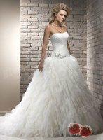 2013 New Listing Wedding Dress White Ball Gown Royal Designer Fashion