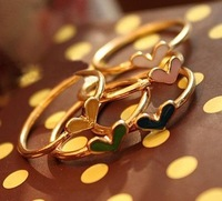 Min.order is $15 (mix order) Fashion exquisite Vintage Heart finger ring AQ0715