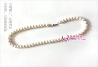 Brief single tier pearl necklace pregnantwith accessories cheongsam accessories