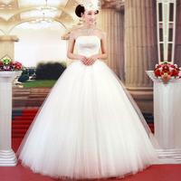 Urged tube top princess 2012 new arrival sweet straps wedding dress 717