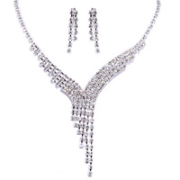 Urged bride chain sets wedding accessories necklace long bridal necklace marriage accessories 018