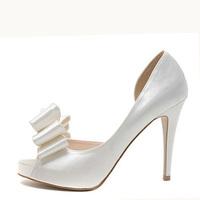 Free shipping! 2012 bow fashion wedding shoes platform open toe high-heeled women's sandals 2988 - 38