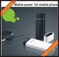 High power capacity  mobile power  Charger TWO USB  Power Charger For Mobile Phone MP3 MP4 PDA Iphone Sansung Nokia LG Motorola