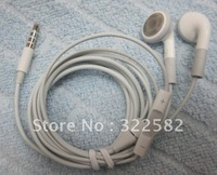 Free shipping ear phone with microphone and volume control for iphone and bass sound