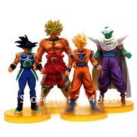 "Free shipping Anime Dragon Ball 6"" Super Saiyan GOKU Piccolo Brolly Bardock PVC Action Figure toy  ( 4 pcs/set )"