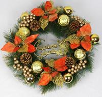 Christmas gift Christmas decoration bundle 45cm gold powder ball quality pine decoration garland