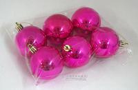 Christmas decoration christmas tree christmas ball 5cm rose light ball 6 bags