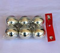 Christmas decoration christmas tree hangings christmas ball 6cm silver light ball 6 bags