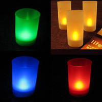 Electronic candle lights frosted glass