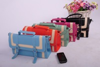 2010 happy lane color block vintage color block decoration handbag !