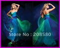 Hot Sell Colored Strapless Chiffon Floor-Length Evening Gowns Prom Dresses E1164