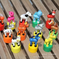 0.04-KK029 the factory direct animal Station barrel wooden toys puzzle cartoon toys for children toysA02
