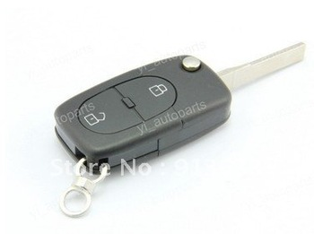 In stock Remote Flip Folding Key Shell Case For Audi A3 A4 2 Buttons 2bt 4d0837231n Uncut