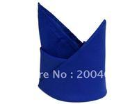 polyester plain napkin royal blue color  for wedding hotels