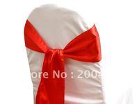 red satin  chair sash/chair sash/chair bow
