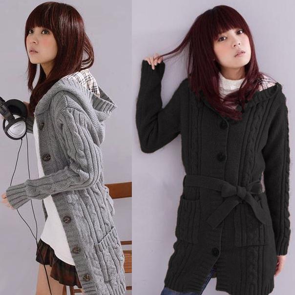 Long Knitted Cardigan Photo Album - Reikian