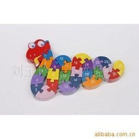 0.3-PP003 Stereo Cobra supply toys / wooden toys / stereo animal puzzle letters puzzleA02