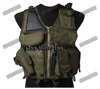 Tactical Airsoft Vest Tactical Combat Hunting Vest Green