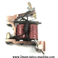 free shipping cheap tattoo machine and tattoo gun professional 10 wrap coils