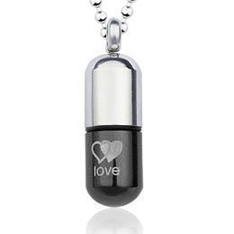 Accessories fashion titanium male personality necklace pendant poison pill perfume bottle