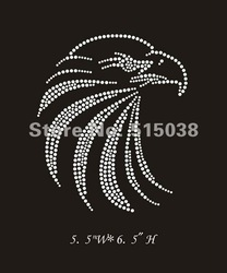 DHL Free Shipping 50pcs/lot rhinestone iron on transfers Eagle design,MOQ(30pcs) is acceptable(China (Mainland))