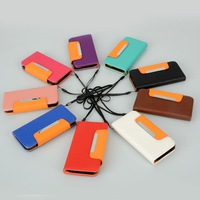 1PCS PU Leather Wallet Card Flip Case Cover + Strap Fit For iPhone 5G 6th Gen JA CM163