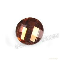 Promotion 1200pcs/lot Faceted Resin Tawny Beads Smooth Round Shape Stick-on Flatback Charms 8mm Fit Garment Embellishments 24485