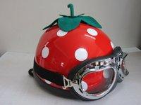 Free delivery fruit helmet strawberry Halley helmet motorcycle helmet fashion helmet