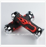 Universal Moto Motorcycle Chopper Handlebar Grips flame Hand Grips Rubber Y42010-C LG16