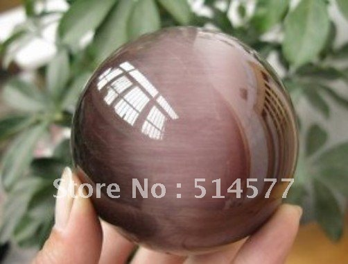 &lt;&lt; Free Shipping &gt;&gt; CAT&#39;S EYE LIKE CRYSTAL SPHERE BALL HEALING 80MM(China (Mainland))
