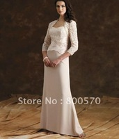 High Quality Lovely Lace Jacket Floor Length Month of Bridal Dress