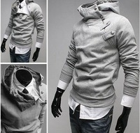 Free Shipping High collar coat 2012 arrival top brand men's jackets,men's dust coat,men'soutwear Color men hoodies and sweater