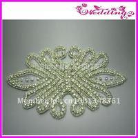 Crystal Bridal Sash, Rhinestone Applique