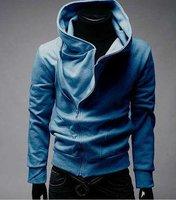 Free Shipping High collar coat 2012 arrival top brand men's jackets,men's dust coat,men'soutwear Color men hoodies and sweater