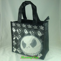 "New Lovely Nightmare Before Christmas Jack Tote Handbag Lunch Box Bento Bag sac 8"" Tall Black #S HB-NBC(420D)"