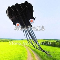 Flying hope! Hot Sale! Beauty 5.5 m single Line Stunt Black Octopus Sport Kite Designer Kite Surf Nylon Kite Fabric Free Ship
