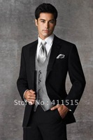 2013 Best Selling Groom Tuxedos Men's Wedding Dress Best man Suit (Jacket+Pants+vest) in my store