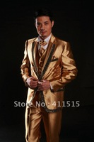 2013 - Brand New Men's Suits Gold Wedding Tuxedo Formality Suit Lounge Suit SU-56