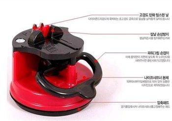 3 pcs/pack fashion knife-grinder Tungsten steel sharpener with sucker (KA-04)
