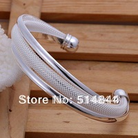 BG013 Free Shipping 925 Silver Women Cuff Bangle Bracelet  Top Quality  Fashion Brand Jewelry Wholesale Charmhouse