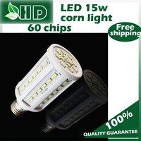 free shipping 1PCS 15w  led energy saving bulb smd corn light 5630 chip 60 super bright led corn light