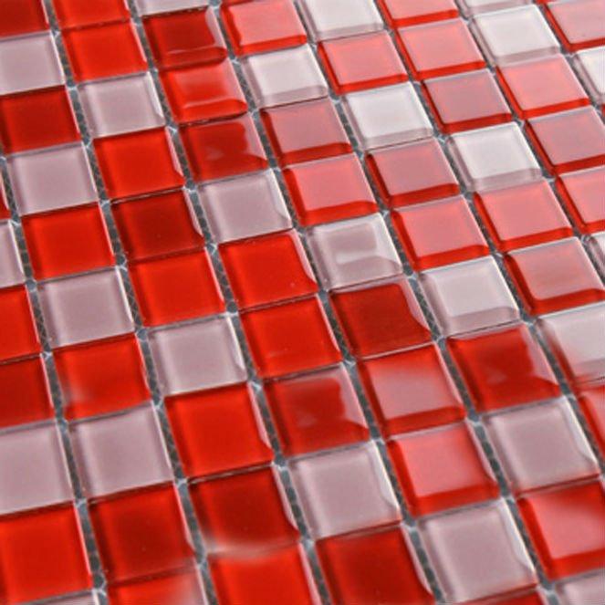 Rode Keuken Tegels : tegel 25mm vierkante gaas gemonteerd rode keuken backsplash tegel