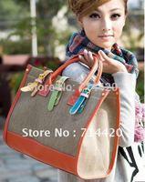 Women lady girl Colorful Canvas Shoulder Bag Messenger Tote Handbag bags