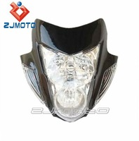 Streetfighter Street fighter Head Light Headlight Main fits Motorcycle Bike New Ducati Supermoto Headlight Black Sonic Style