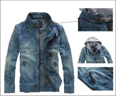 Cap Blues Jacket Coat Detachable Cap Blues