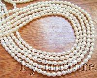 8PE01283 wholesale 5 Piece 5.5x4.5MM White Rice Pearl