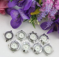 FREE SHIPPING 20PCS mixed style roman numerals silver watch faces #22297